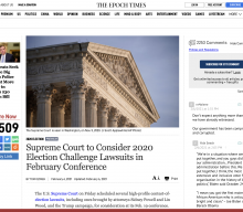 FYI: Sat. 6 Feb. Supreme Court to consider 2020 Election Fraud:
