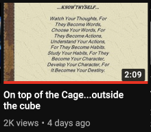 FYI: On top of the Cage…outside the cube
