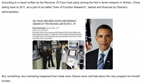 REPORT: VIDEO: Shocking Details From 2012 Connect Fauci To Wuhan…