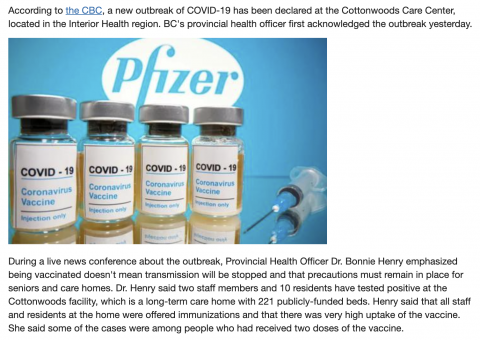REPORT: COVID Outbreak Confirmed At Nursing Home Despite Staff, Patients Being Vaccinated