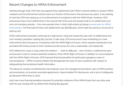 GFH REPORT: Information to understand the Health Insurance Portability and Accountability Act (HIPPA)?